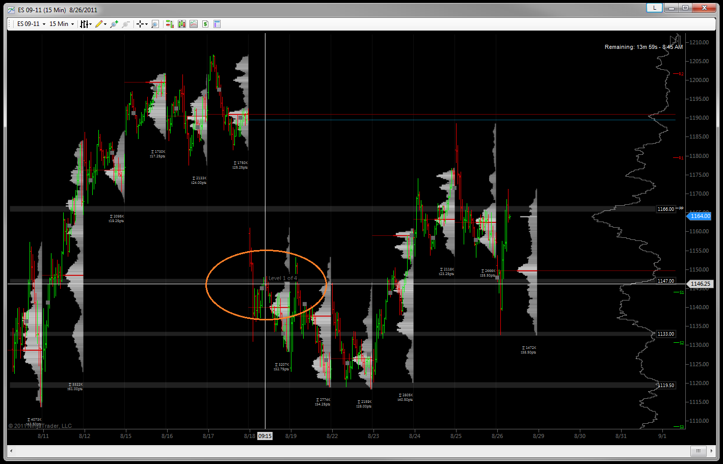 NinjaTrader - Bars Highlighted and Selected