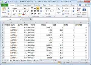 Acme ZigZag - Exported Statistics